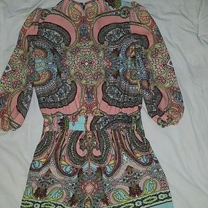 Bisou Bisou Pants - Like new paisley print romper